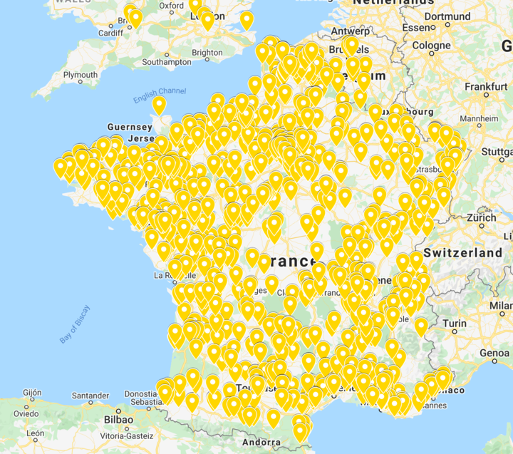 Image : présence en France, Belgique et Pays Bas d'1 lettre 1 sourire